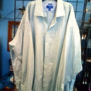 Egara men's 4X button down plaid non iron shirt